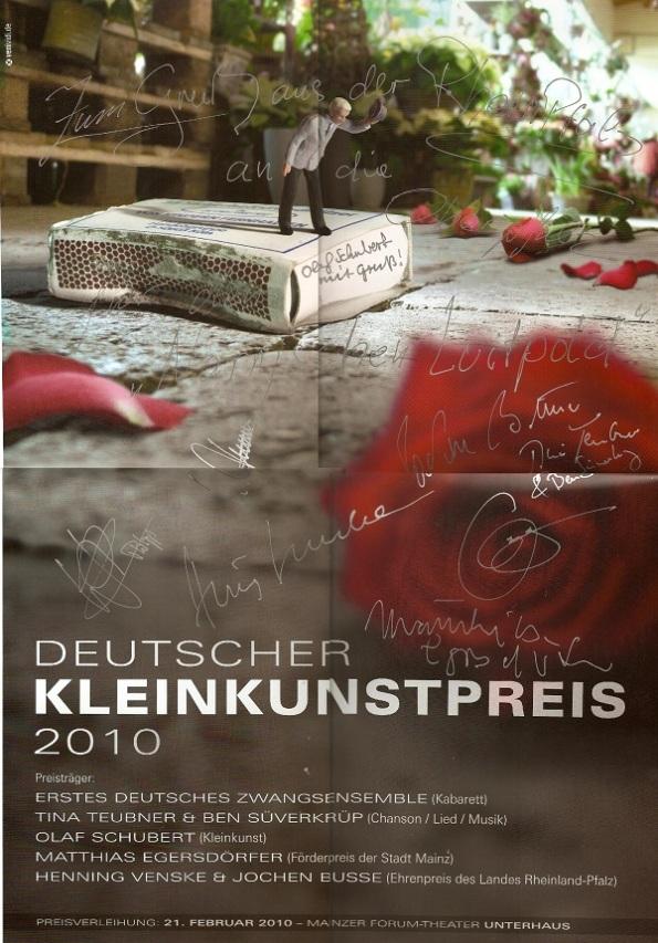 Palkat der Künstler Unterhaus Mainz 2010