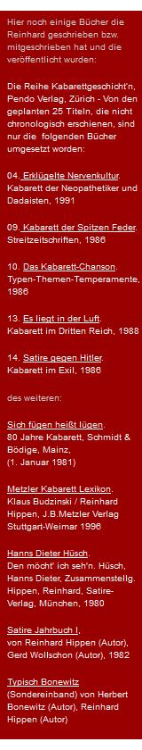 Reinhard Hippen Buchliste