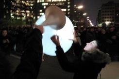 9.11.2014 - 25 Jahre Mauerfall Berlin Germany - der Ballon klemmt